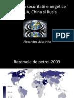 Alexandru Irina Problema Securitatii Energetice in SUA, China Si