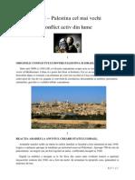 Israel Palestina cel mai vechi conflict activ din lume