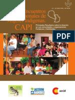 Sistematización de Encuentros Regionales de Mujeres Indígenas (CAPI)