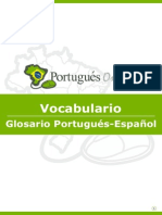 Guia de Vocabulario PORTUGUES