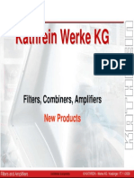 4 New Filter Products Kathrein Filters, Combiners, Amplifiersts