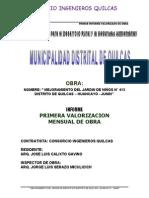 CARATULA VALORIZACION N° 01 QUILCAS (2)