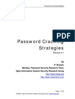 Password Cracking Strategies