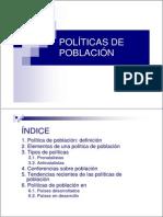 Políticas de Población