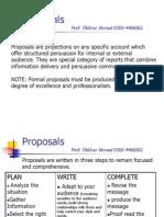 Proposals.