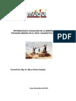 Informalidad e Ilegalidad de La Minera Artesanal Ypequea Minera en El Per Diagnstico y Propuestas