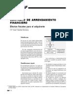 Contrato de Arrendamiento Financiero. Efectos Fiscales Para El Adquirente-material