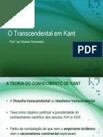 13. O Transcendental Em Kant