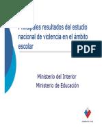 Presentacion Estudio Nacional de Violencia Escolar_2006