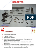Diseño Mecanico II - Resortes