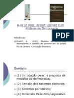 10-Aula Lijphart-Modelos Consensual X Majoritário
