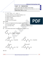 JEE Advanced 2014 Paper I Chemistry Paper Answer Solutions