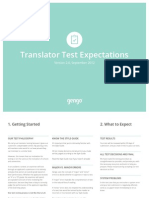 Gengo Test Expectations