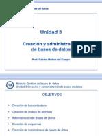 GBD U03 T 01 Creacion y Administracion de Base de Datos