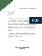 Carta a La Esposa Del Gobernador Rangel