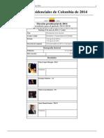 Elecciones Presidenciales de Colombia de 2014