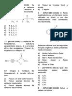 Questões Simulado 1 - Fernando Luiz de Carvalho - Química Orgânica
