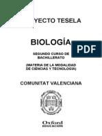 Programacion Tesela Biologia 2 BACH Comunidad Valenciana