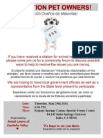 Community forum on RCDAS tactics flyer