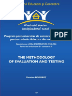 Tests and Evaluation -Metodology