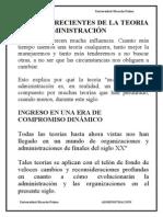 Adm - 014 - Avances Recientes de La Teoria de La Administracion - - Resumen