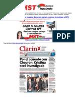Avanza denuncia de Bodart vs Cristina-Chevron
