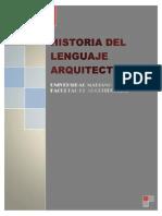 Historia de Lenguaje Arquitectonico