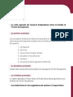 Accord d'association entre la Tunisie et l'Union Européenne_Le volet agricole