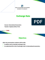 Lecture 11 Exchange Rate