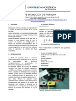 Laboratorio Ley de Faraday Electro
