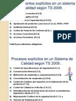 Procedimiento y Procesos Obligatorios Ts