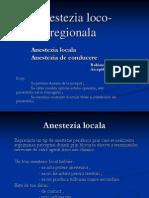 Anestezia-locoregionala