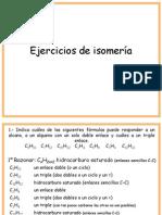 Ejercicios de Isomerc3ada1