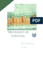 Manipulacion de Embriones
