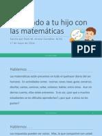Ayudando a tu hijo con las matemáticas