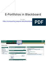 E-Portfolio in BlackBoard