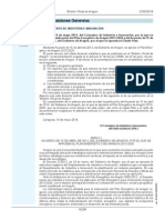 Plan Energético de Aragón 2013-2020