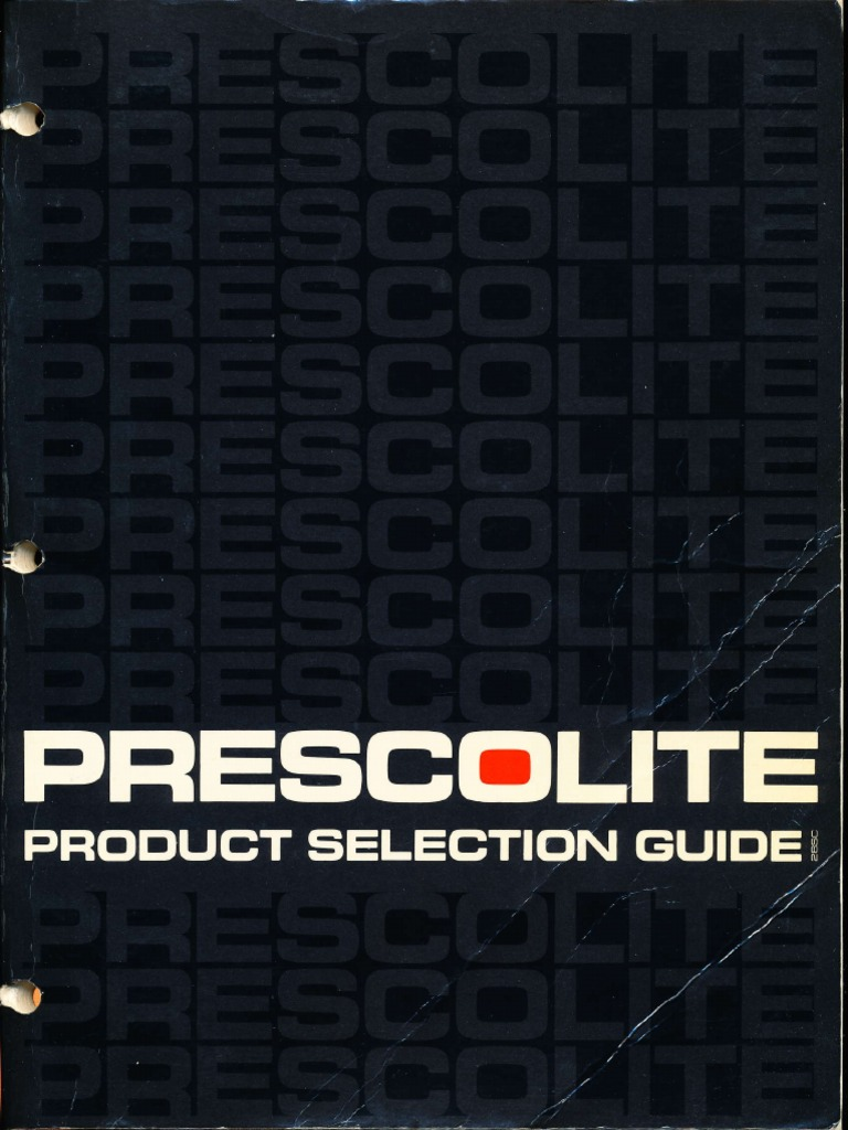 Prescolite Product Selection Guide 28SC 1980