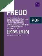 Sigmund Freud - Observações Sobre Um Caso de Neurose Obsessiva [__O Homem Dos Ratos__] Uma Recordação de Infância de Leonardo Da Vince e Outros Textos (1909-1910) Volume 9