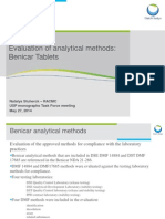 Benicar Analytical Methods