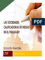 Las Sociedades Calificadoras de Riesgo en Paraguay