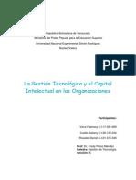 La Gestión Tecnológica y El Capital Intelectual en Las Organizaciones
