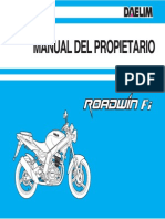 Manual Daelim Roadwin 125 Fi