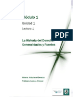 Lectura 1 - La Historia Del Derecho - Generalidades y Fuentes (1)