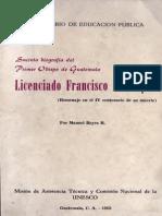 Reyes Manuel - Biografia de F. Marroquin