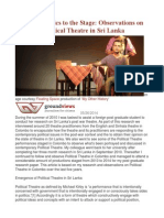 Bringing Politics to the Stage Observations on Post-War Political Theatre in Sri Lanka