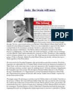 Modi and Mahinda the Twain Will Meet Tomorrow