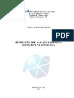A Revolução Bolivariana Natalia Scartezini Rodrigues