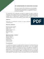 Cuantificación de Contaminantes en Soluciones Acuosas