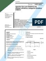 NBR 6803 NB 335-03.10 - Capacitor Fixo Com Dieletrico de Poliester Cilindrico Categoria Climatica